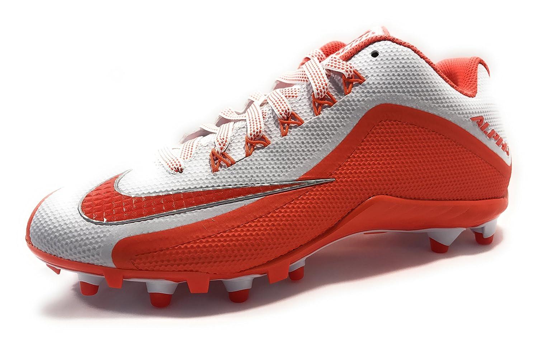 Nike Men's Alpha Pro 2 Football Cleat B0742LNR7F 13 D(M) US|White/Orange Flash