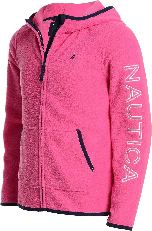 Nautica Girls School Uniform Polar Fleece Zip-up Hooded Jacket