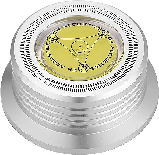 per dischi e vinili 50 Hz Disco stabilizzatore per giradischi Nobsound 3 in 1 peso stabilizzatore con stroboscopico