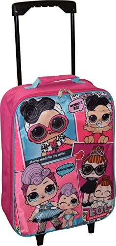 L.O.L Surprise Girl's 15 Collapsible Wheeled Pilot Case - Rolling Luggage