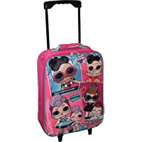 "L.O.L Surprise! Girl's 15"" Collapsible Wheeled Pilot Case - Rolling Luggage"