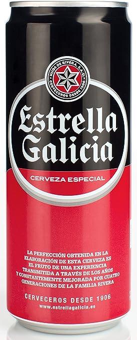 Estrella Galicia - Cerveza Lata, 33 cl: Amazon.es: Alimentación y bebidas