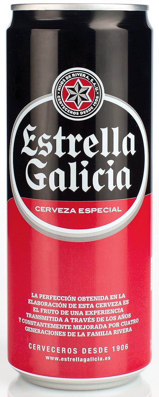 Estrella Galicia - Cerveza Lata, 33 cl: Amazon.es: Alimentación y ...