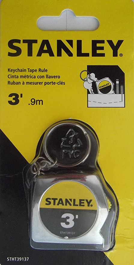 Stanley Keychain Tape Rule, 3-ft.