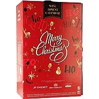 Calendrier de l'Avent Vins – Assortiment de vins et de vins pétillants – Noël – Lot de 24