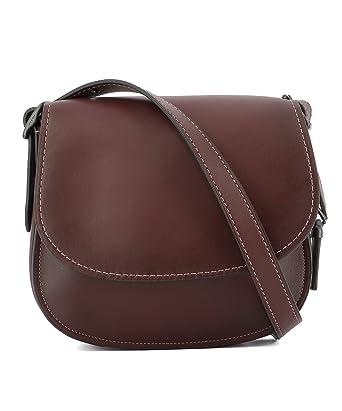 1e2e2ba324f7 Coach Women s 55036Bordeaux Burgundy Leather Shoulder Bag  Amazon.co.uk   Clothing