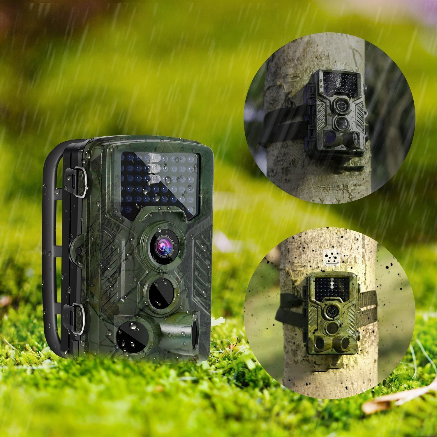 Ip Trail hunting camera 16MP 1080p 120° PIR Sensor wildlife game camera 65ft Infrared Scouting Camera with night vision 46pcs IR LEDs IP56 waterproof by infinity prodotti (Image #6)