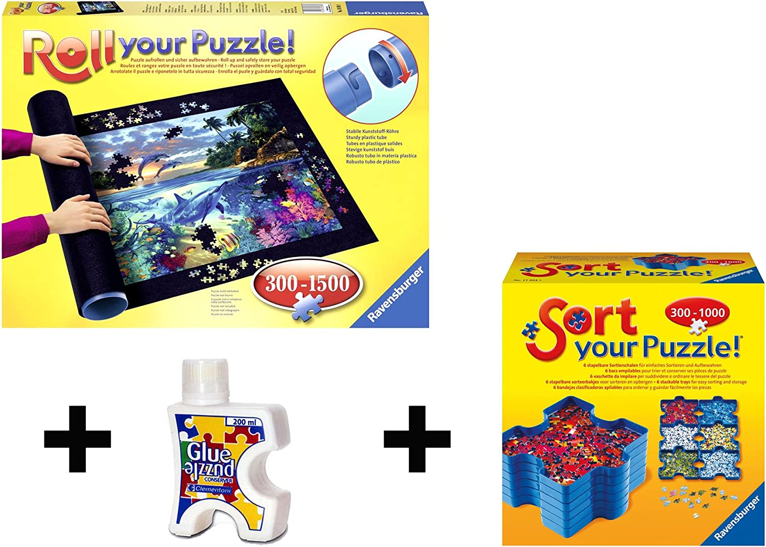 Pack Puzzle Roll 1500 Ravensburger. Tapete universal para ...