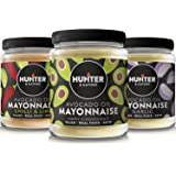 Hunter & Gather Avocado Oil Mayonnaise Variety Pack Chilli & Lime - Garlic & Classic - 175g