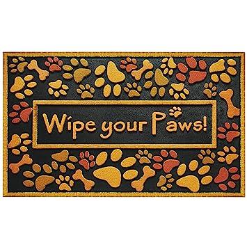 Amazon.com : Large Wipe Your Paws Doormat Outdoor Heavy Duty ...