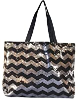 Amazon.com | Silver Sequin X Large Tote Bag 24-inch | Gym Totes