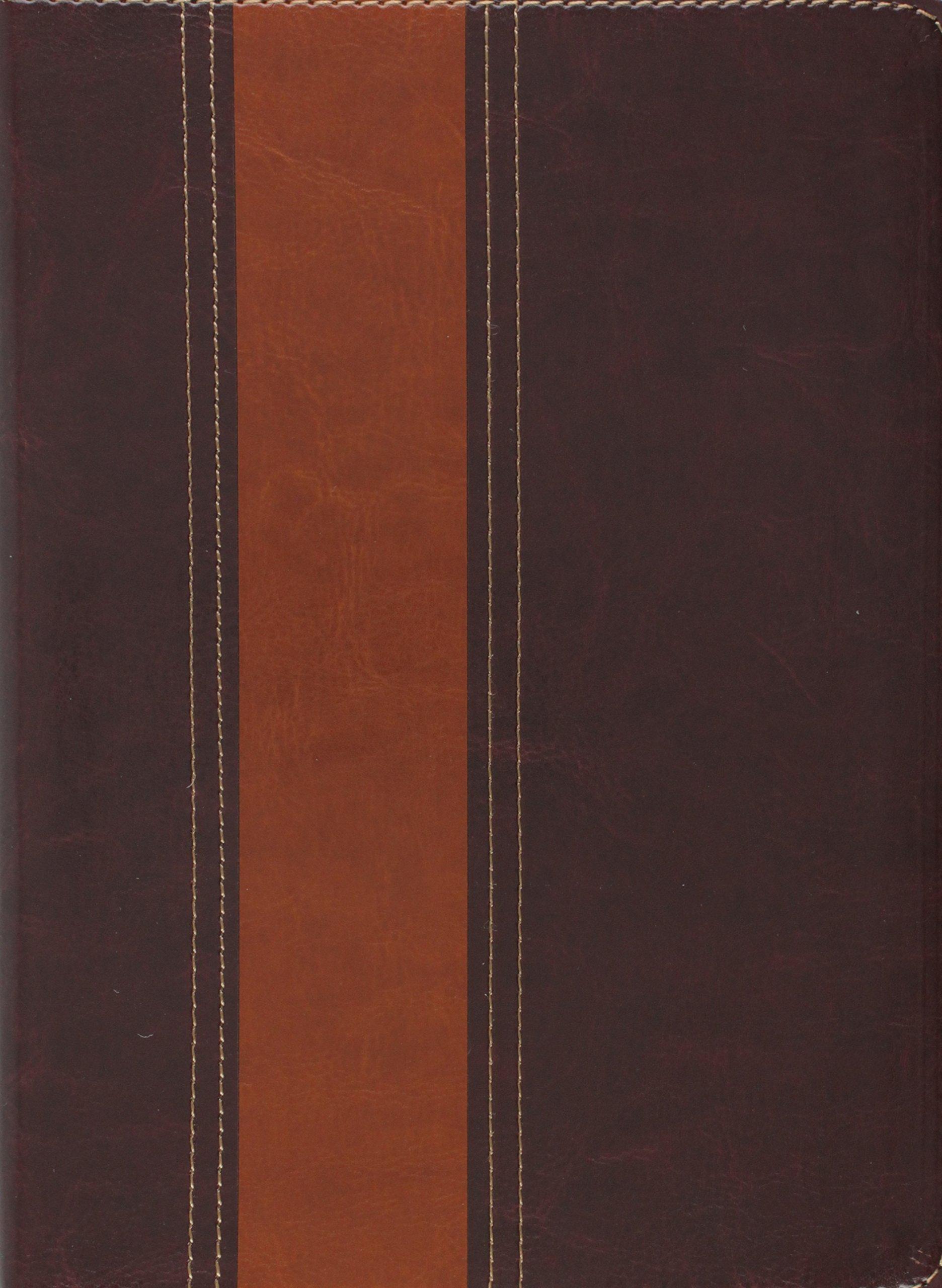 Biblia Thompson - Capa Luxo Marron Escuro E Claro (Semi ...