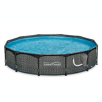 Amazoncom Summer Waves 12 X 33 Above Ground Pool Set Wpump