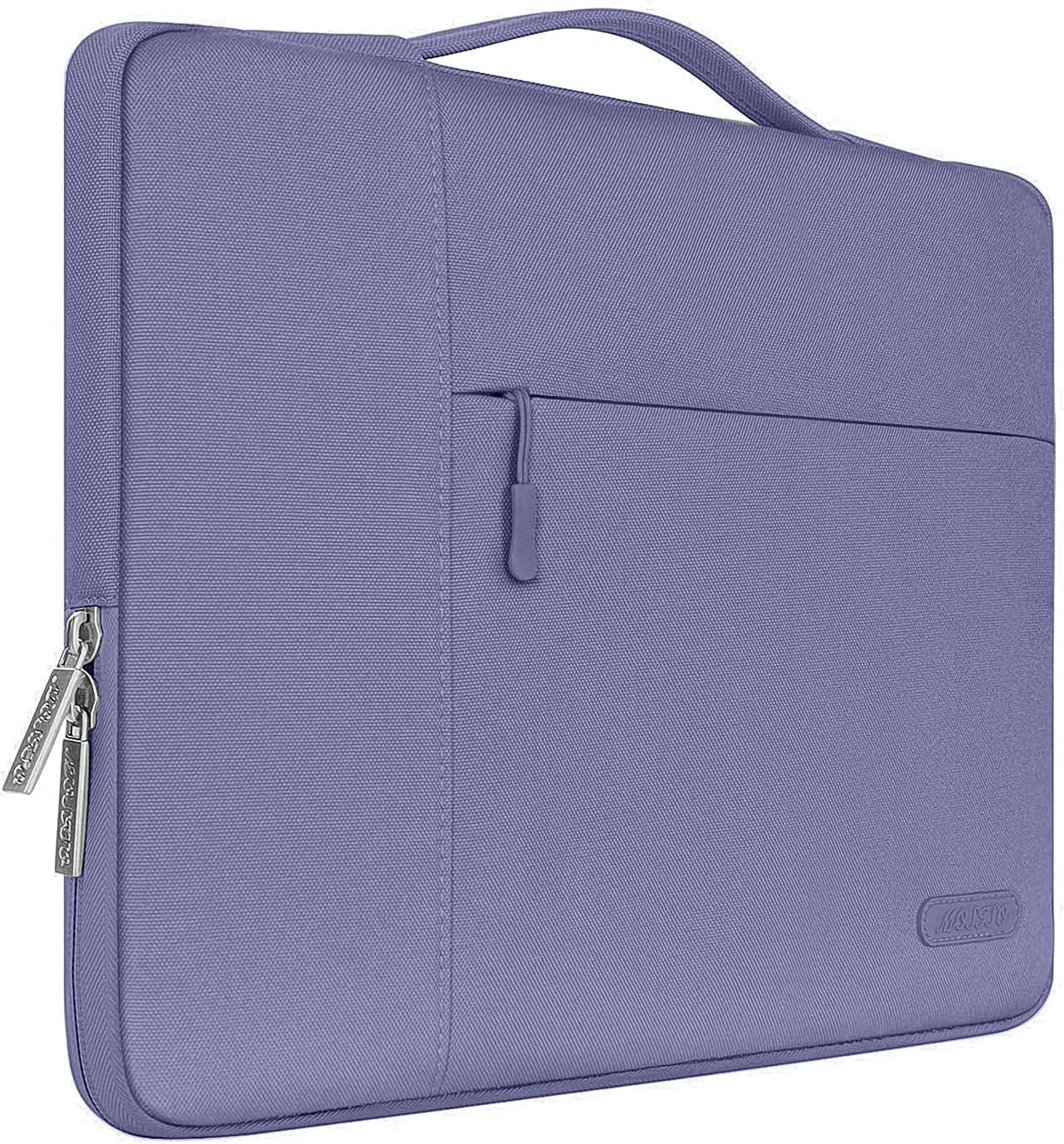 MOSISO Laptop Sleeve Compatible with 13-13.3 inch MacBook Air, MacBook Pro, Notebook Computer, Polyester Multifunctional Briefcase Bag, Lavender Gray