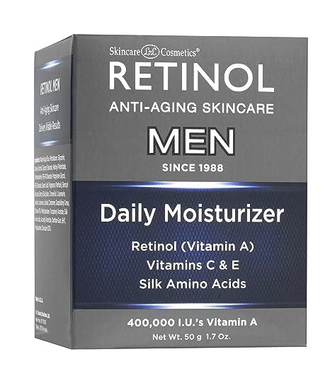 ... La Crema Humectante Original de Retinol Especialmente Hecha para la Piel de un Hombre - Beneficios Antienvejecimiento de la Vitamina A Exfoliante y una ...