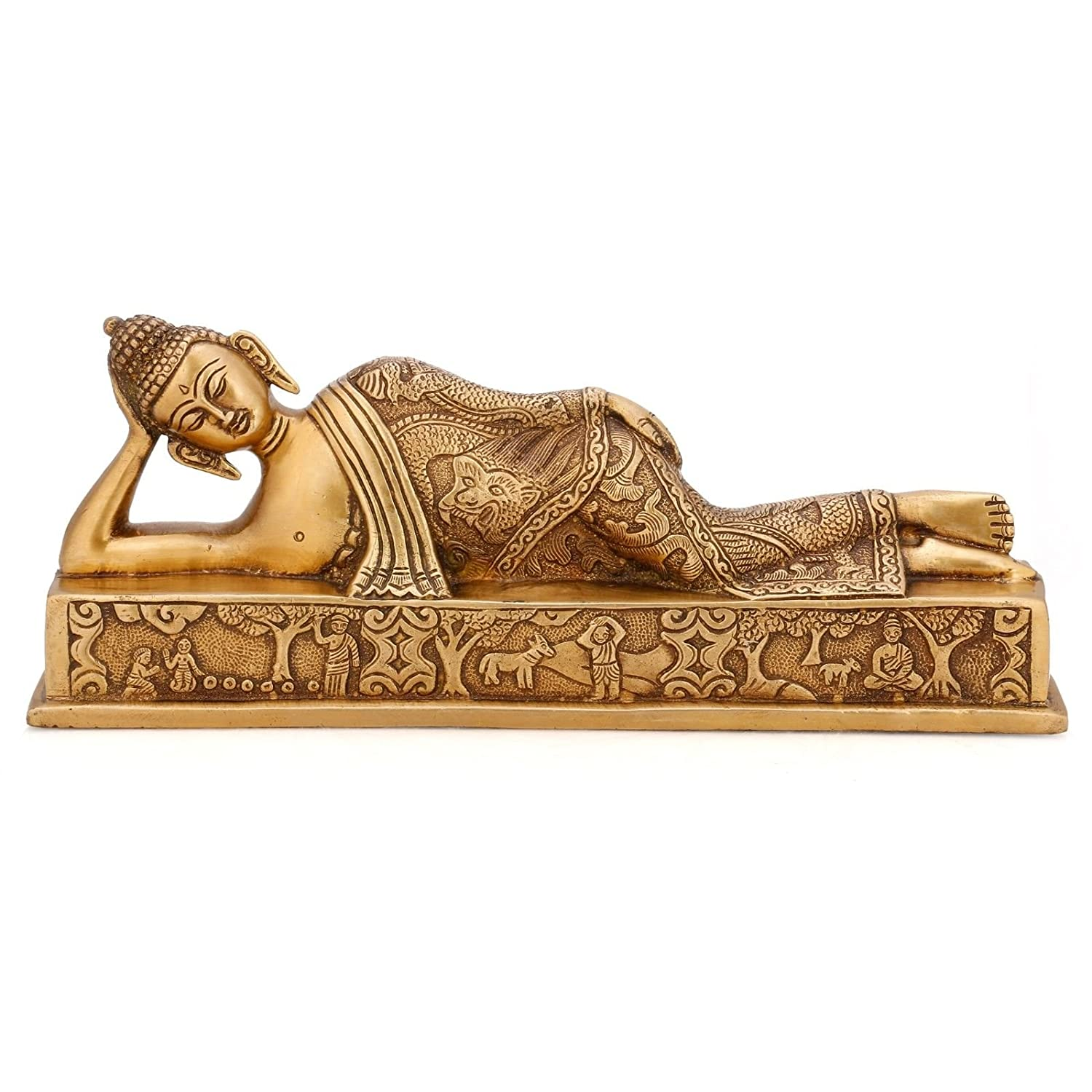 thai furniture dp statue statues reclining oriental decor kitchen home com amazon buddha