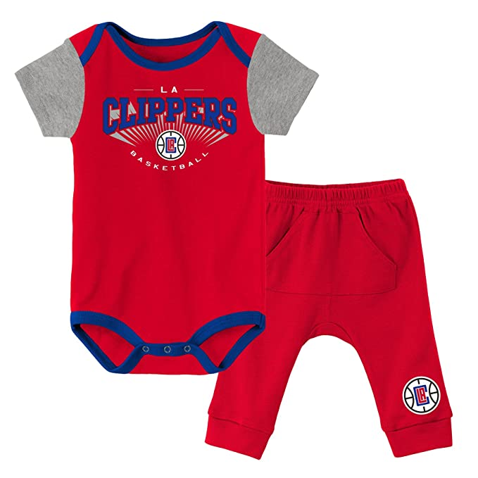 timeless design 83543 8e4ad Outerstuff NBA Unisex-Baby NBA Newborn & Infant Point Guard Onesie and Pant  Set