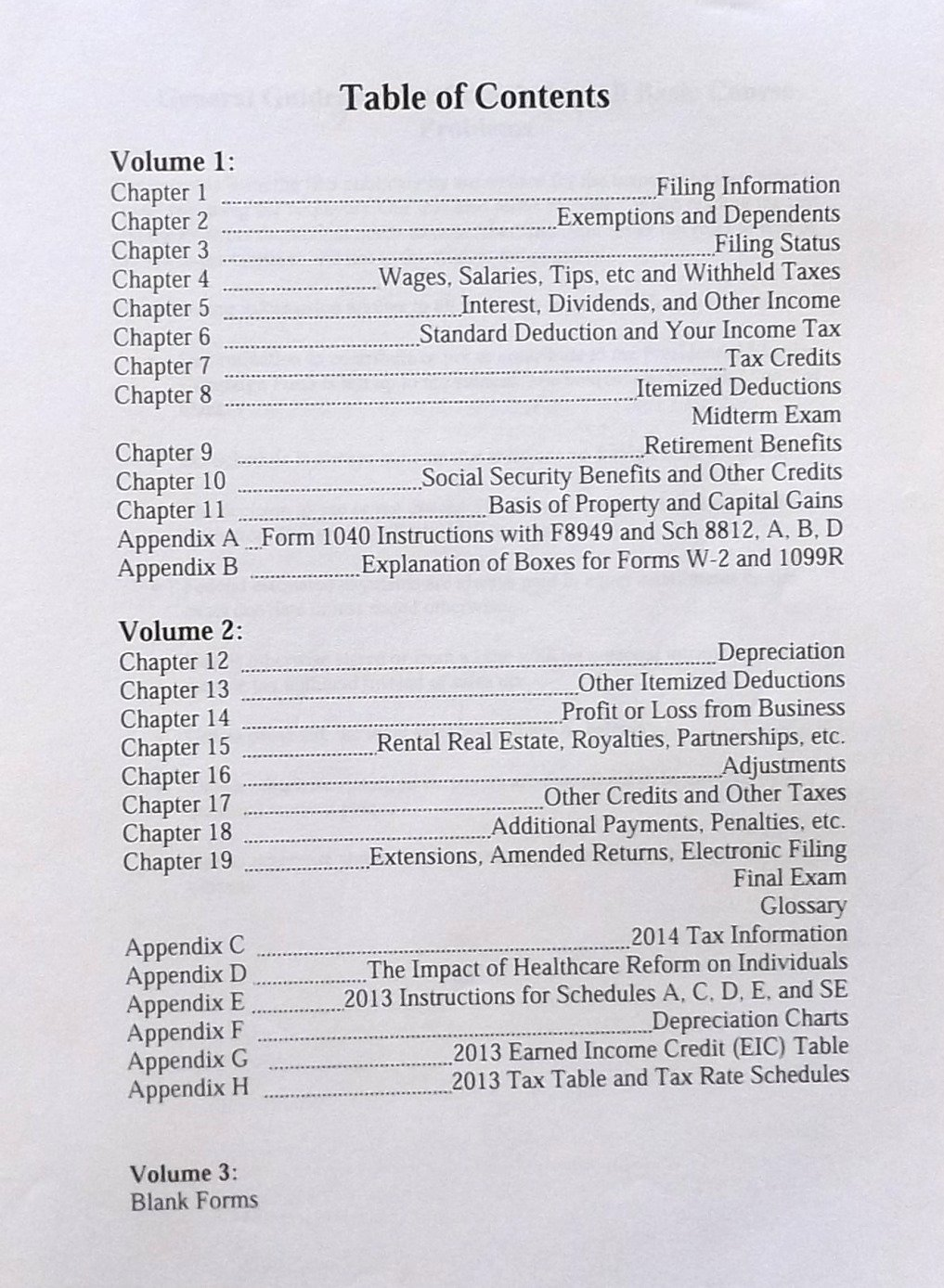 2014 Basic Income Tax Course Volume 1 Liberty Tax Service Amazon – 2013 Eic Worksheet