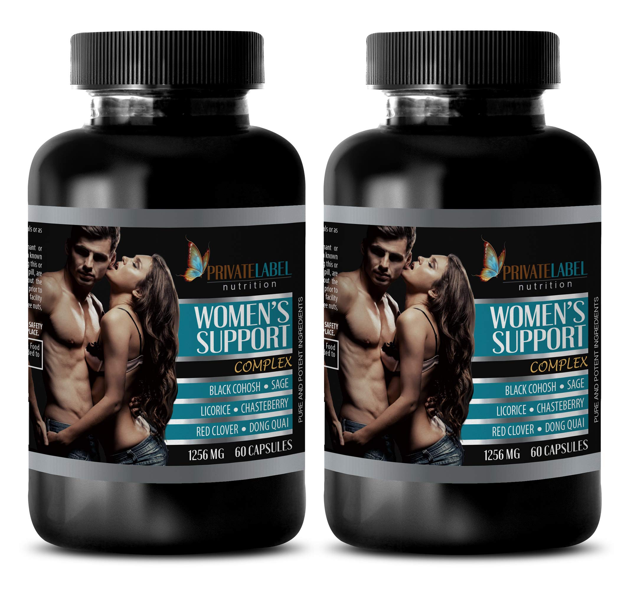 Sleeping aid for Women - Women's Support Complex - Pure and Potent Ingredients - Dong quai Root Powder - 2 Bottles (120 Capsules)
