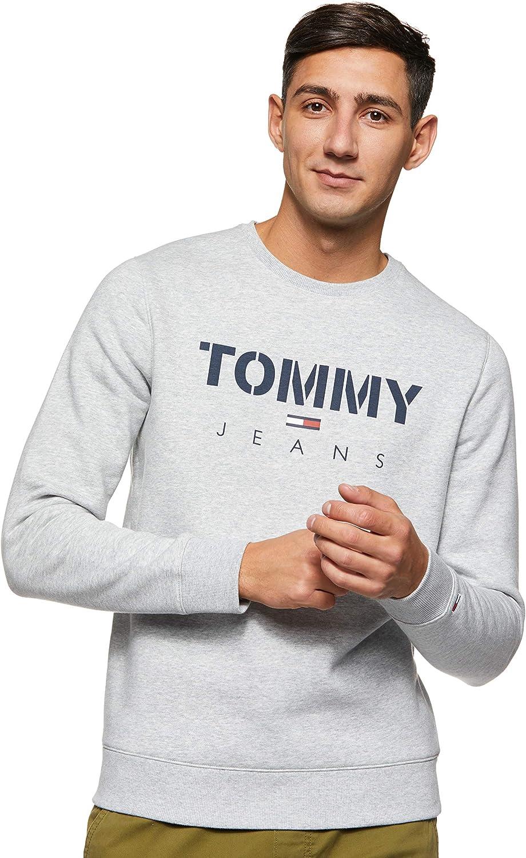 Tommy Jeans Herren TJM Novel Logo Crew Sport Pullover