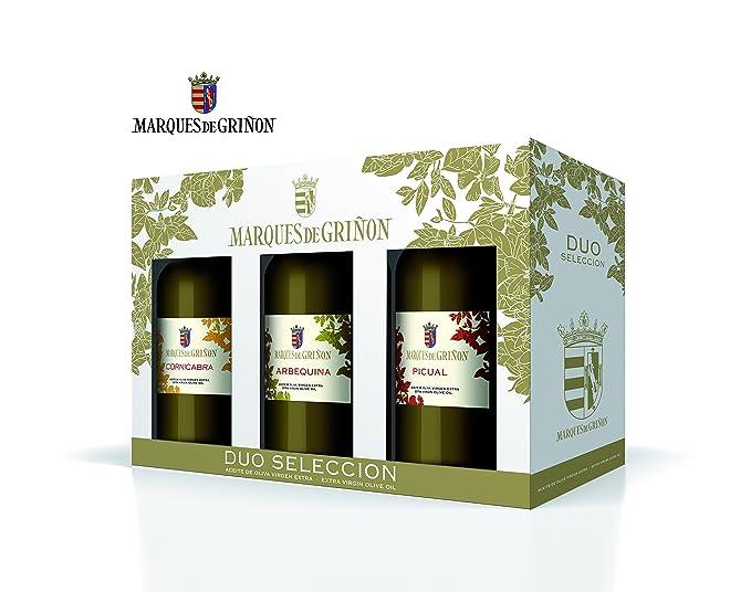 MARQUES DE GRIÑON - Estuche aceite de oliva virgen extra (picual, arbequina, cornicabra). Formato 500 ml