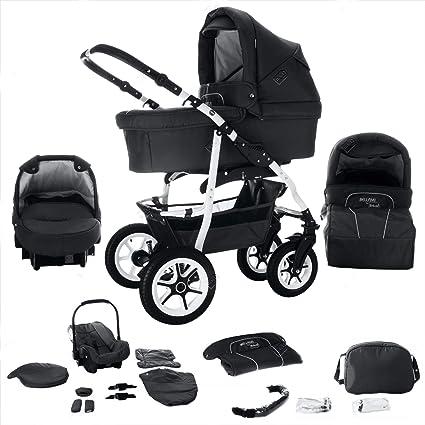 Carrito combinado de bebé 3 en 1 modelo Bellami de Bebebi, con neumáticos duros en