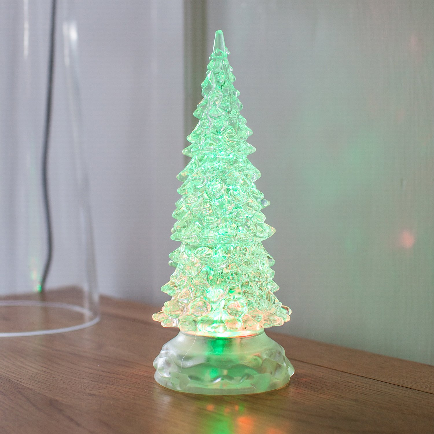 Colour Changing Swirling Glitter Water Battery LED Christmas Tree by ...