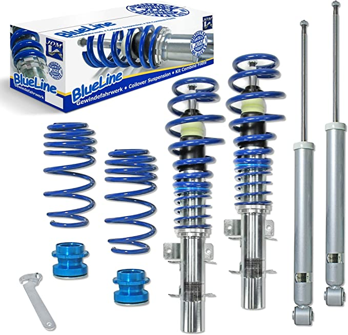 JOM Car Parts & Car Hifi GmbH 741096 Blueline Suspension Cuerpo roscadoSeat Ibiza/Cordoba Typ (6L) 1.2/1.4/1.4 TDi/ 1.9SDi/ 1.9TDi, 01-, ...