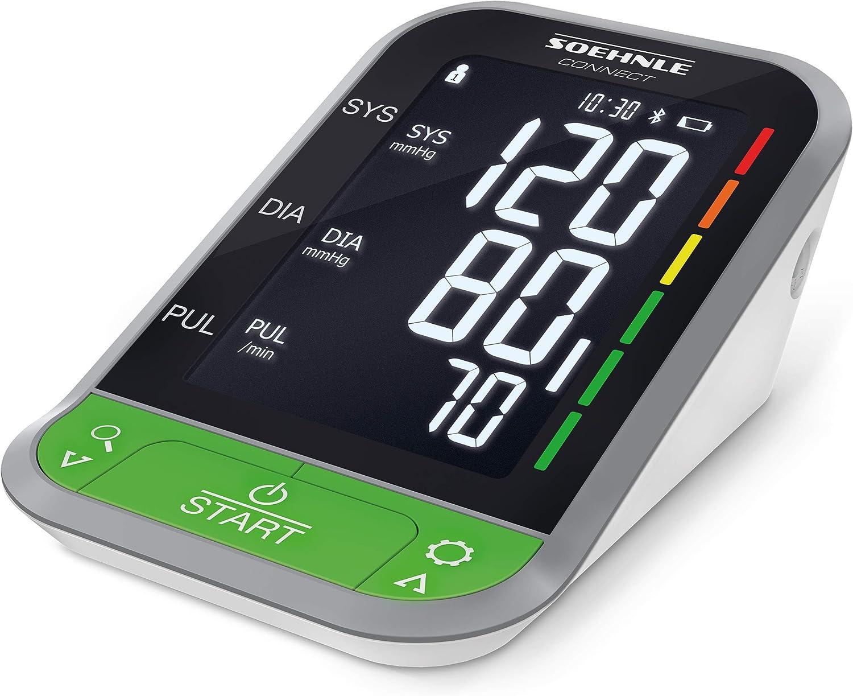 Soehnle Tensiómetro de brazo digital Systo Monitor Connect 400 con Bluetooth y app, tensiómetro electrónico con sensor, medidor para tomar la tensión