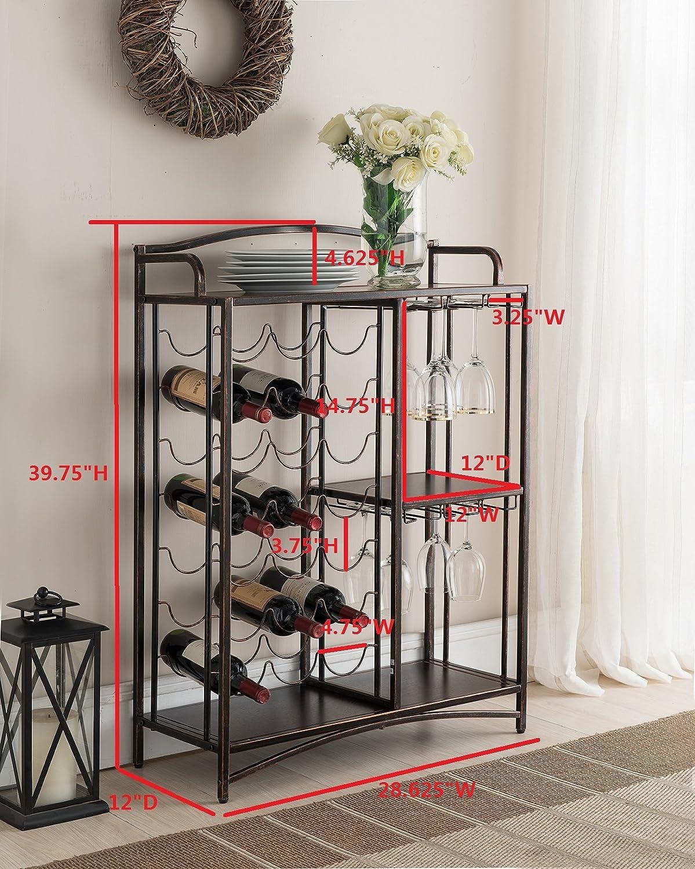 Amazon Com Kings Brand Furniture Metal Console Table Wine Rack