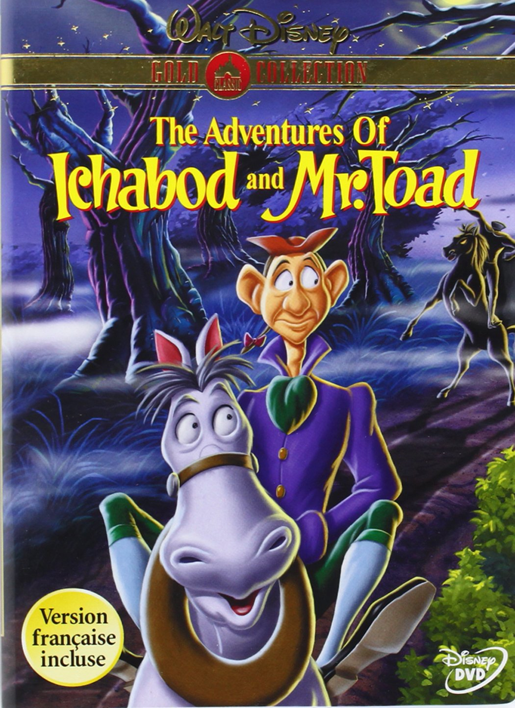 Amazon.com: The Adventures of Ichabod and Mr. Toad (Disney Gold Classic Collection): Bing Crosby, Basil Rathbone, Eric Blore, J. Pat O'Malley, John McLeish, Collin Campbell, Campbell Grant, Claud Allister, Leslie Denison, Edmond