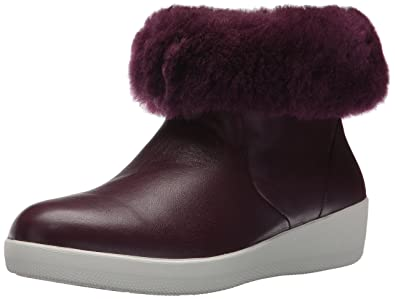 79809fbac Amazon.com  FitFlop Women s Skatebootie Leather Boots with Shearling ...