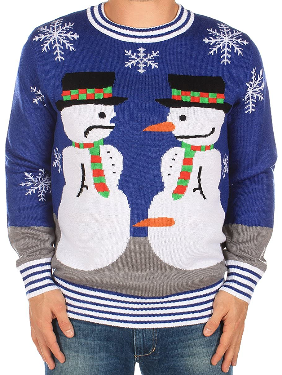 Tipsy Elves Ugly Christmas Sweater - Men's The Snowman Nose Thief Sweater