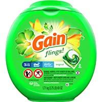 Deals on Gain flings Liquid Laundry Detergent Pacs Original 81 Count