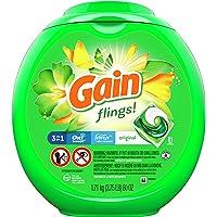 Gain flings Liquid Laundry Detergent Pacs, Original, 81 count