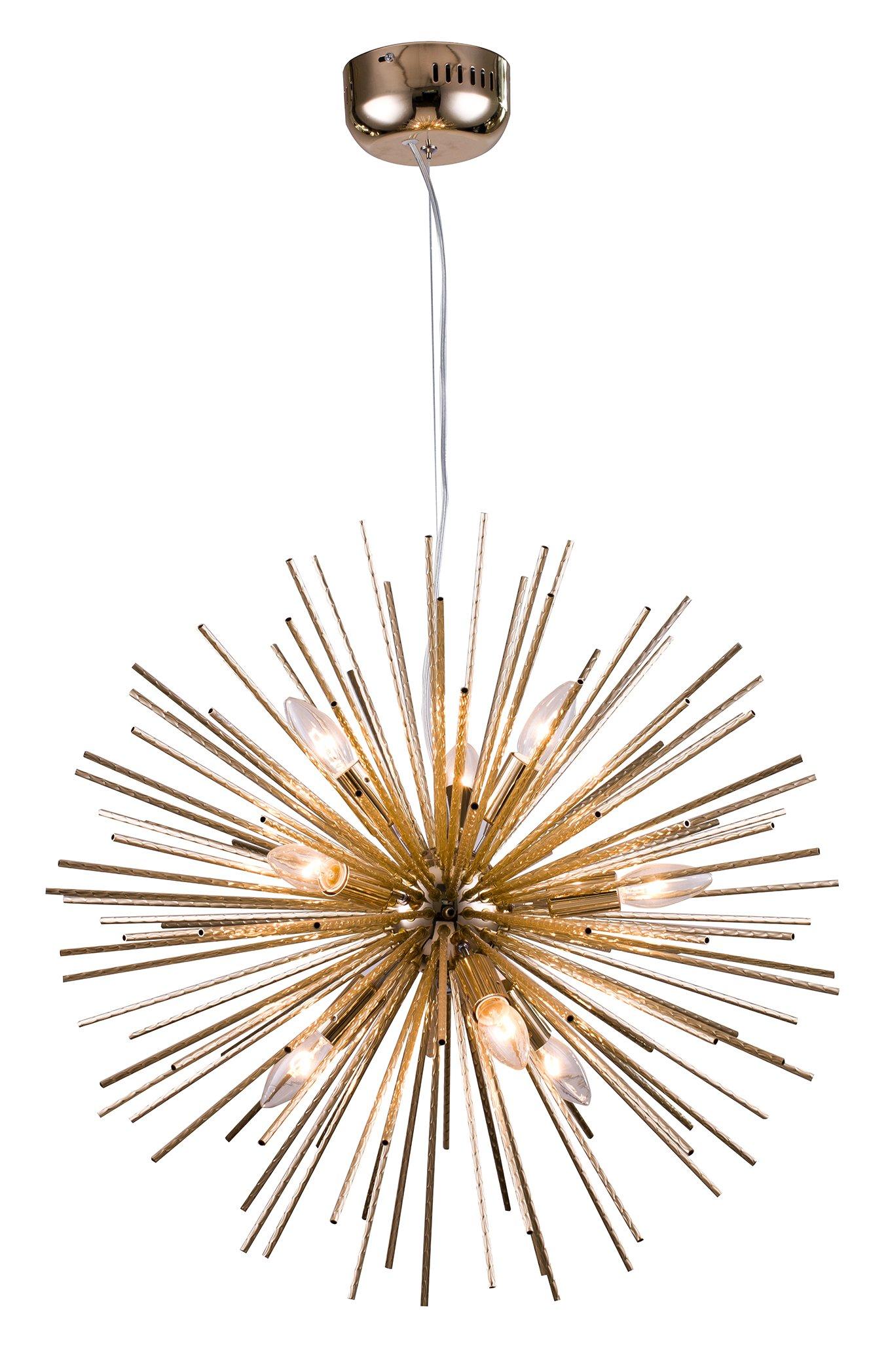 Aluminium Gold spike ball light fixture