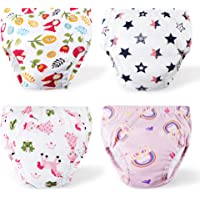 Toddler Potty Training Pants 4 Pack,Cotton Training Underwear Size 2T,3T,4T,Potty Underwear for Girls MUL S