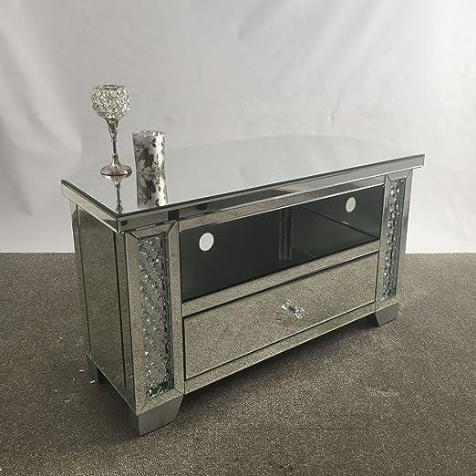 Veneciano espejo esquina de cristal efecto Espejo soporte de TV ...