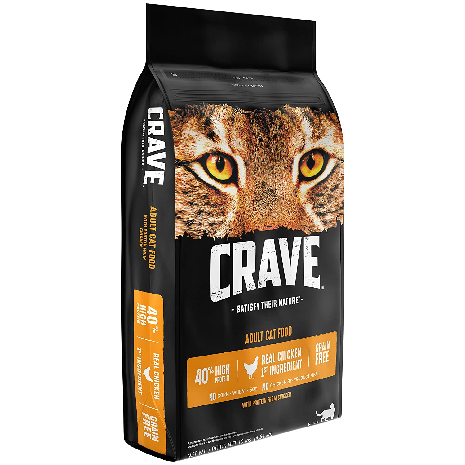 Crave Grain Free With Protein From Chicken Dry Adult Cat Food, 10 Pound Bag