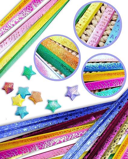 Amazon.com: UPlama 1120 hojas de papel de estrellas de ...
