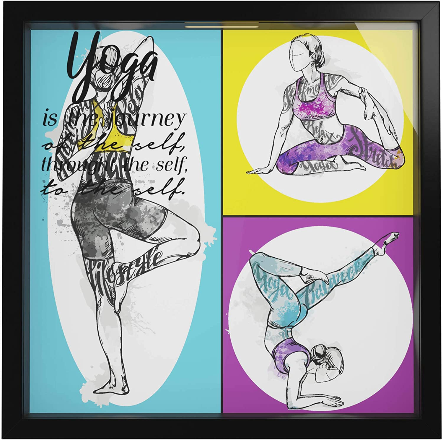 Yoga Decor |Meditation Wall Art Studio | Gifts For Yoga Enthusiasts | Yoga Instructor Gift Appreciation | Zen Decorations For Home | Namaste Pictures For Wall