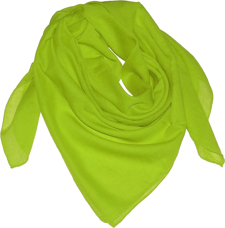 Farben:apfelgr/ün Gr/ö/ßen:Einheitsgr/ö/ße Harrys-Collection Damen Herren Baumwolltuch in vielen Farben 100 x 100 cm