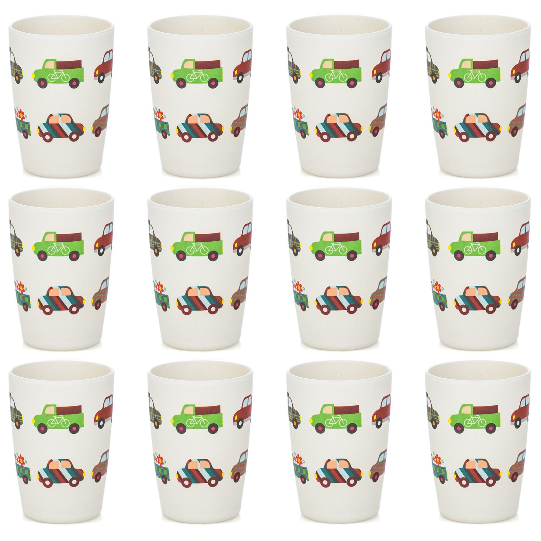 Tiny Dining Children's Bamboo Fibre Juice Cup - Cars - Pack of 12 by Tiny Dining