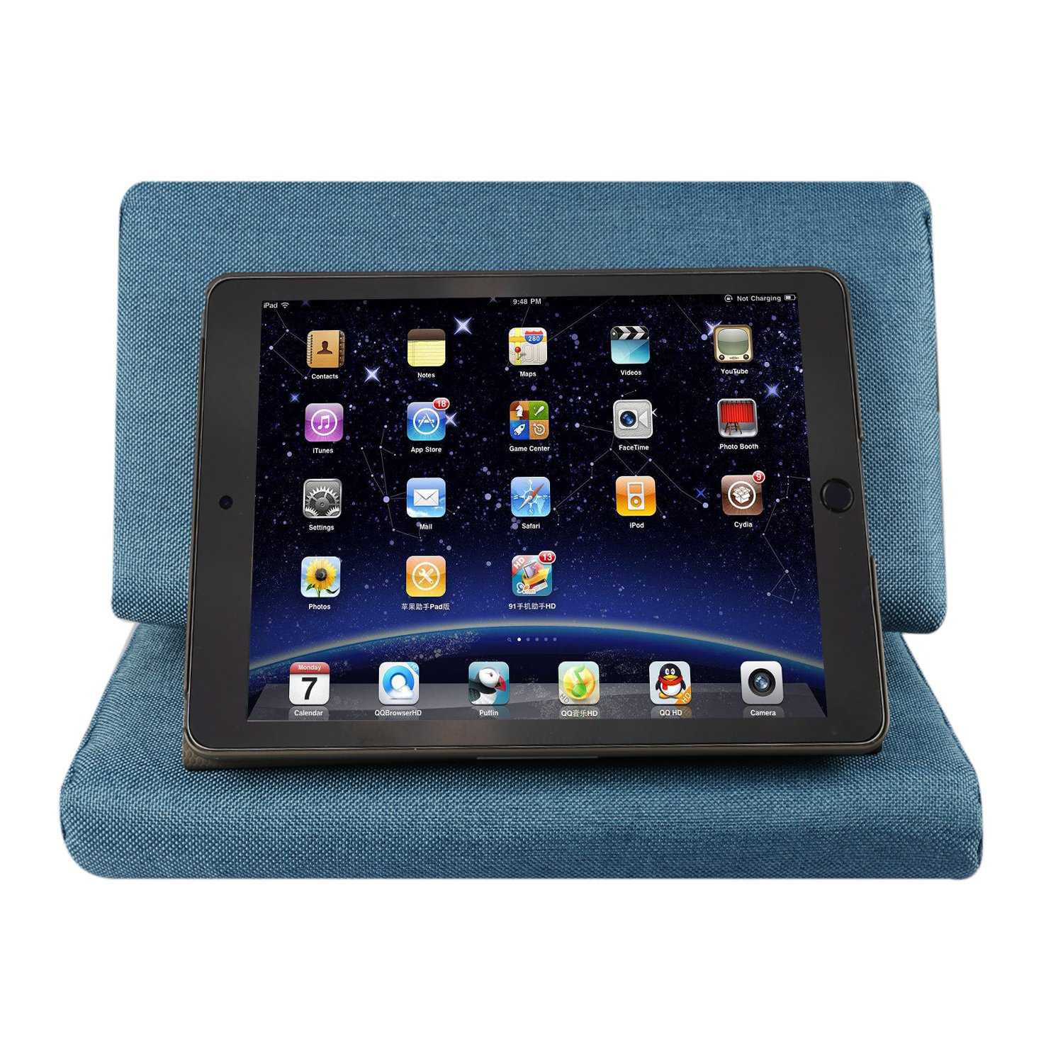 eworld tablet pillow holder ipad pillow tablet stand sofa book rest support reading wedge