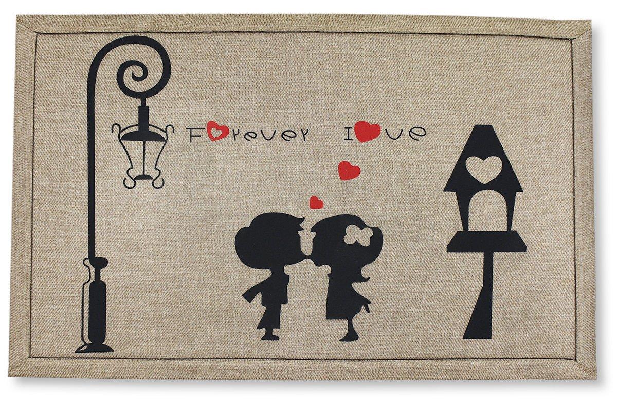 Door Mat - Indoor and Outdoor Rug - In Love Kissing 20 Inch X 32 Inch