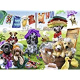 """Ravensburger 10596 0 """"Colorful Washing Day"""" Puzzle (100-Piece)"""