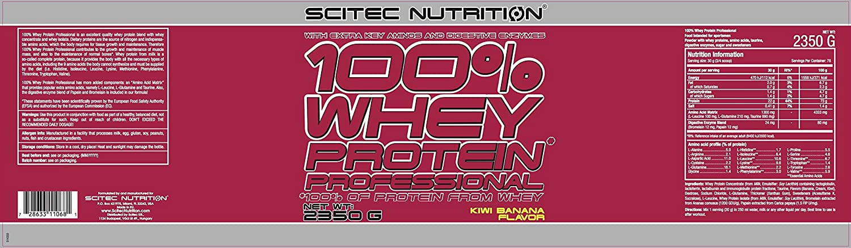 Scitec Nutrition 100% Whey Protein Professional con aminoácidos clave y enzimas digestivas adicionales, 2.35 kg, Kiwi-Plátano