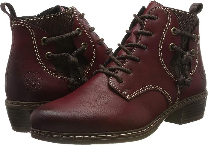 Rieker Femme Bottes, Boots Y0791, Dame Bottes d'hiver