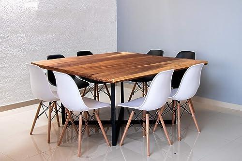 Mesa para comedor de Parota: Amazon.com.mx: Handmade