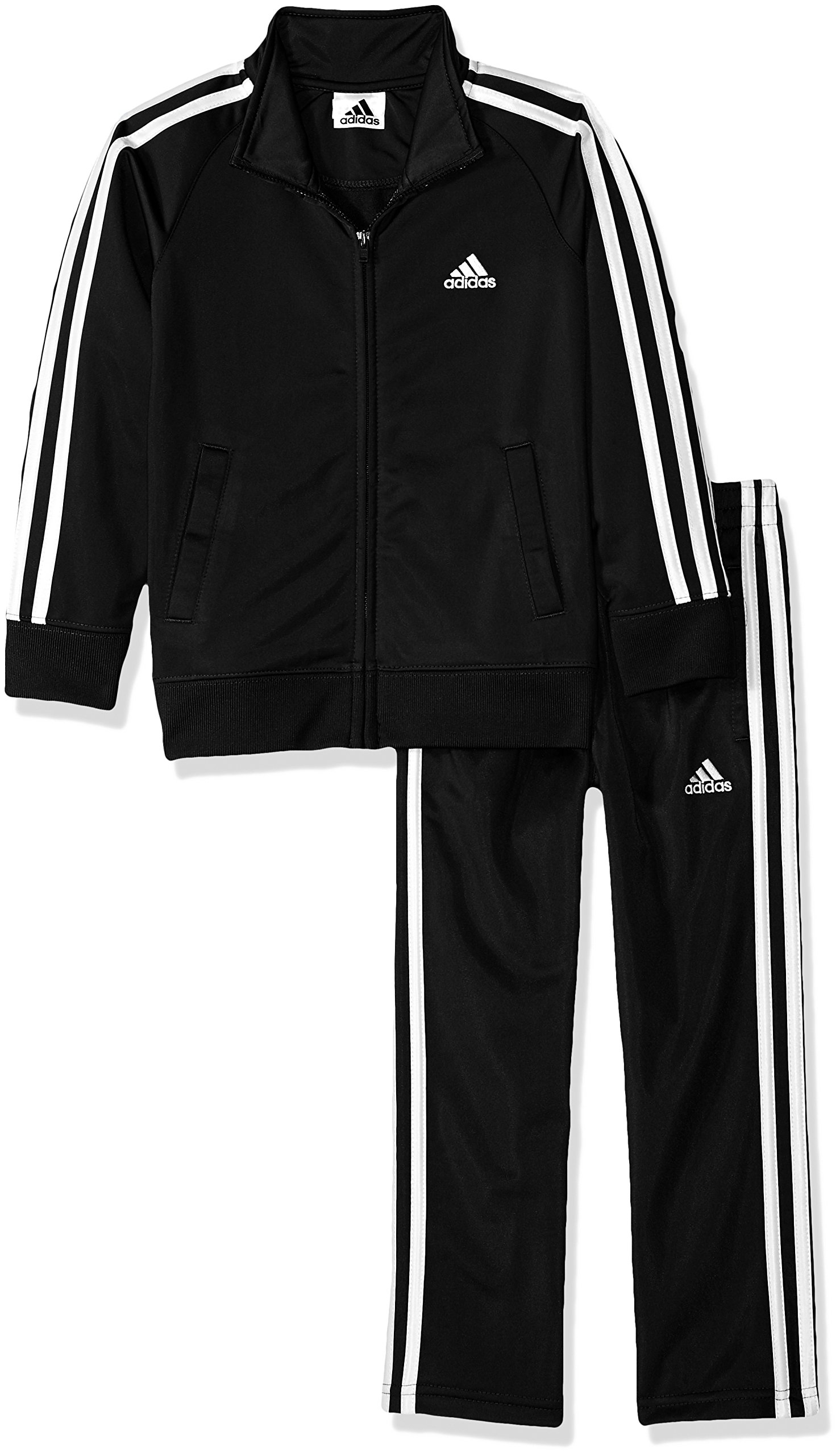adidas Boys' Toddler Tricot Jacket and Pant Set, Midnight Adi, 3T